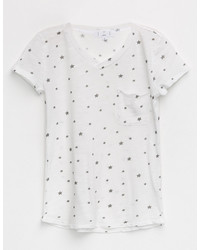 Ivy Main Star Print Girls Pocket Tee