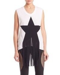 Stella McCartney Sleeveless Fringed Star Tee