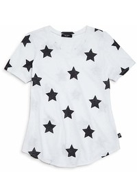 Terez Girls Star Print V Neck Tee Little Kid