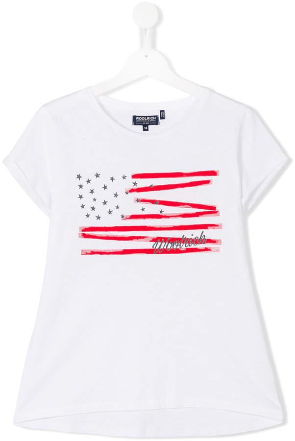 Woolrich Kids Printed T Shirt