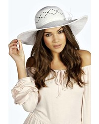 Boohoo Straw Beach Hat