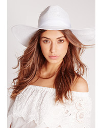 Missguided Miami Oversized Straw Fedora