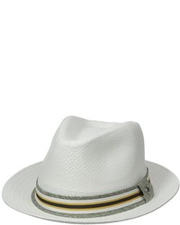 Perry Ellis Straw Panama Withlayered Band