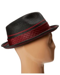 d251532cffac9 ... Stacy Adams Polybraid Pinch Front Fedora With Contrast Tie Band Fedora  Hats ...