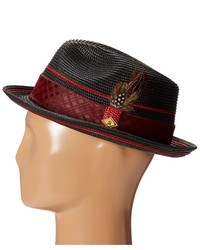 84ccb54a4ab7c ... Stacy Adams Polybraid Pinch Front Fedora With Contrast Tie Band Fedora  Hats