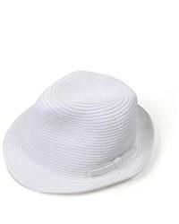 Selini White Paper Fedora Hat H0577