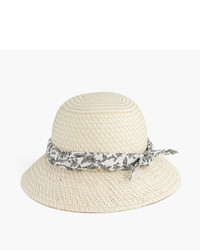 J.Crew Straw Hat With Bandana