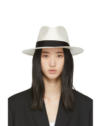 Rag and Bone White Straw Panama Hat