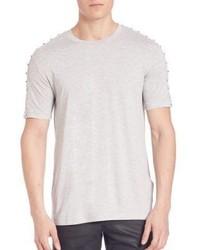 White Studded Crew-neck T-shirt