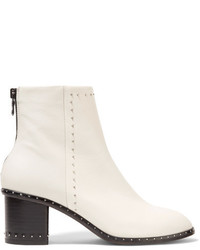 Rag & Bone Willow Studded Leather Ankle Boots White
