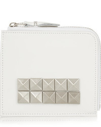 Comme des garons studded leather wallet white medium 3649692