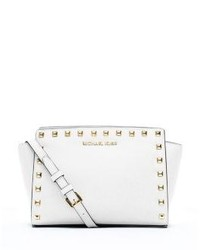 Michl kors selma medium studded leather messenger medium 162163