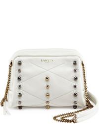 Lanvin Mini Sugar Studded Crossbody Bag White