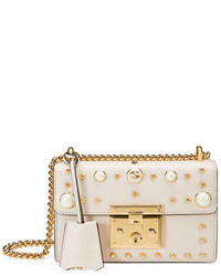 Padlock small studded leather shoulder bag medium 950115