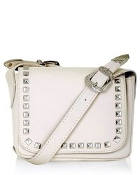 Topshop Rodeo Studded Leather Crossbody Bag