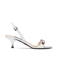 Prada 60 Studded Leather Slingback Sandals