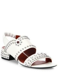 3.1 Phillip Lim Drum Studded Leather Slingbacks
