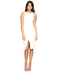 Adelyn r fitted dress with shoulder studs medium 3665060