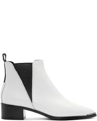 Acne Studios White Jensen Grain Boots