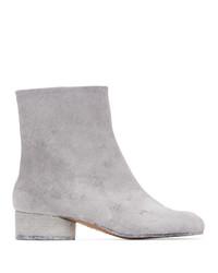 Maison Margiela White Painted Tabi Low Heel Boots