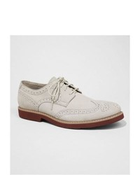 Express Suede Wingtip Oxford White 8