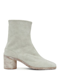 Maison Margiela Off White Hairy Suede Tabi Boots
