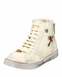 Saint Laurent Antibe Distressed High Top Sneaker