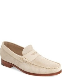 White Suede Loafers for Men   Lookastic