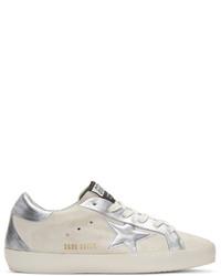 Golden Goose Deluxe Brand Golden Goose White Suede Bespoke Superstar Sneakers