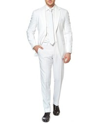 Opposuits White Knight Trim Fit Two Piece Suit With Tie