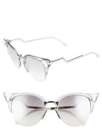 Fendi 52mm Crystal Tip Cat Eye Sunglasses Crystal Palladium