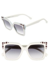 Fendi 52mm Gradient Cat Eye Sunglasses Black Pink