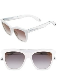 Givenchy 53mm Cat Eye Sunglasses Havana Black