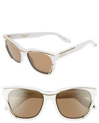 Givenchy 56mm Cat Eye Sunglasses White