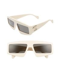 Gucci 61mm Shield Sunglasses
