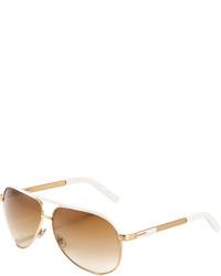 Gucci Aviator Sunglasses Goldwhite