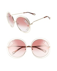 Chloé Carlina 62mm Oversize Round Sunglasses