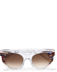 Thierry Lasry Cat Eye Acetate Sunglasses White