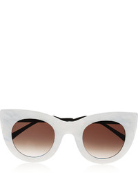 Thierry Lasry Cheeky Cat Eye Acetate Sunglasses White