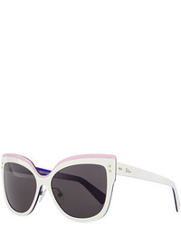 Christian Dior Dior Exquise Cat Eye Sunglasses Whitepink