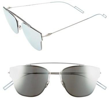 fc0470c541 Christian Dior Dior Homme 57mm Semi Rimless Sunglasses Dark Ruthenium