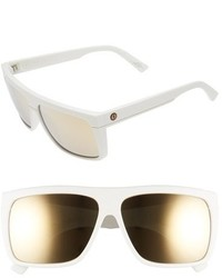 Electric Black Top 60mm Flat Top Sunglasses Matte White Grey Gold