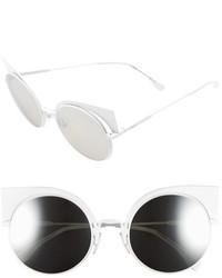 Fendi 53mm Round Cat Eye Sunglasses Aqua