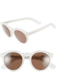 Illesteva Leonard Ii 50mm Round Mirrored Sunglasses Frost