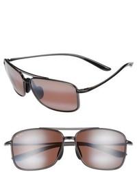 Maui Jim Kaupo Gap 61mm Polarizedplus2 Sunglasses Gloss Black Neutral Grey