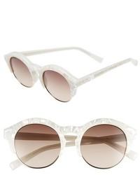 Le Specs Edition Five 51mm Sunglasses Matte Blush Gold
