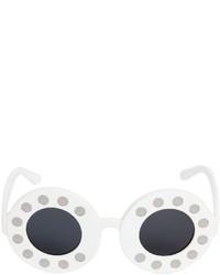 Linda Farrow Yazbukey Telephone Round Sunglasses