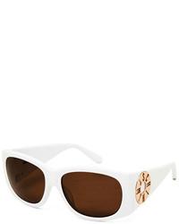 Moschino Monochromatic Logo Disc Oval Sunglasses