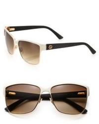Gucci Oversized 60mm Square Sunglasses