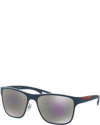 Prada Linea Rossa Rectangular Sunglasses